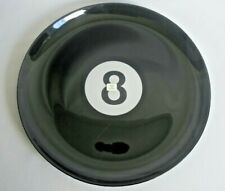 Platter Tray Serving Plate Blk Collectable Pool Sport Mancave 13'' Dish