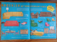 1958 Kroehler Furniture Ad 65th Anniversary Sale