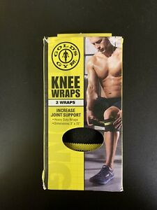 """Set Of 2 Golds Gym Knee Wraps-Heavy Duty-3"""" X 72""""-Elastic-Damaged Package"""