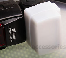 Silicone White Flash Light Bounce Dome Diffuser for Nikon Canon Sony Nissin