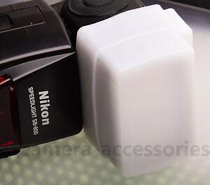 Silicone White Flash Light Bounce Dome Diffuser for Nikon Canon Sony Nissin