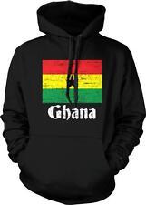 Republic of Ghana Flag Text Ghanaian Pride  Hoodie Pullover