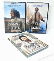 The Gospel Of Luke Mark & JOHN ~ 3 DVDs ~ NEW & SEALED DVD