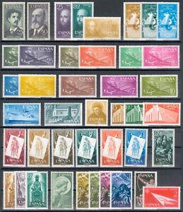 ESPAÑA 1955/56 - 2 AÑOS COMPLETOS (SIN SERIE BÁSICA FRANCO) - ED. 1164/1205 MNH