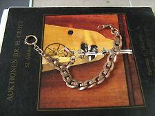 Big antique Kollmar & Joudan Pforzheim GF pocket watch chain for russian market