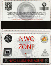 NWO Illuminati Secret Agent ID Card Cult 666 Baphomet Zodiac Occult Beast Pin 9