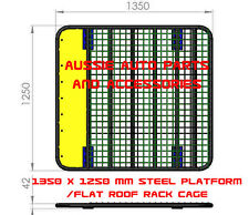 Flat Steel Roof Rack 1350mm for TOYOTA Hilux Dual Cab 2016> Roof Rack Steel Rack