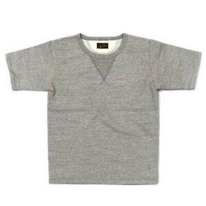 Japan Blue 18-gauge Sweat Fabric Cotton Sweat T Shirt Size L Short Sleeve Gray