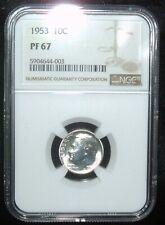 1953 Roosevelt Dime NGC PF 67 (Beautiful Coin)