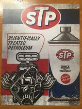 Tin Sign Vintage STP scientifically Treated Petroleum