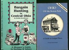 OHIO lot two books * Ohio Off the Beaten Path * Bargain Hunting in Central Ohio
