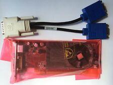 SFF Dual Dell cp309 Radeon HD 2400 XT 256mb PCIe-TV dms-59 Win 8 & VGA Splitter