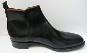 Mens Sanders Seconds Black Leather Boots - Size UK 13