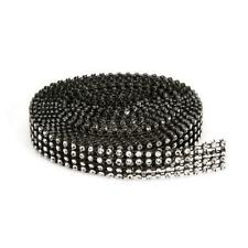 4-row Darice BLING ON A ROLL - BLACK Mesh & Silver Ribbon - 0.62 inch x 3 Yards