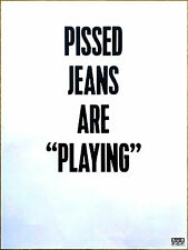 Pissed Jeans Why Love Now 2017 Huge Rare Tour Poster +Free Indie Rock Pop Poster