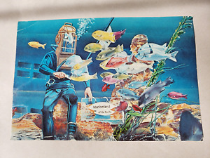 Vintage Postcard - Marineland Diver Painted Image - Golden West