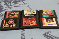 sega genesis lot  street fighter 2/sonic 2 and more.
