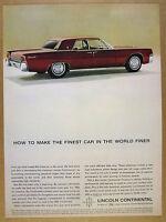 1963 Lincoln Continental Sedan red car photo vintage print Ad
