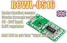 The AMAZING RCWL-0516 Microwave Radar Sensor.  Arduino Pi ESP32 ESP8266