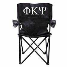 Phi Kappa Psi Black Folding Camping Chair with Carry Bag