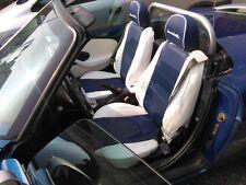 Schonbezüge Plätze Auto auf Messen Asiam Fiat Barchetta von 1994/2005 Blau /