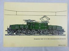 Güterzuglokomotive Krokodil Ce 6/8 Nr. 14253 von 1919 DB Siebdruck von AW Witten