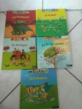 Lot KIDIDOC - 5 tomes - dinosaures - football - musique - transports - au fil de