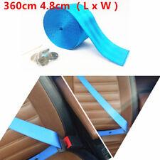 360cm 4.8cm (L x W ) Webbing Polyeste Fiber Seat Belt For 3 Bolt Point Seat Belt