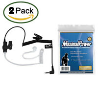 2x MaximalPower™ 617-1N 3.5mm RECEIVER/LISTEN ONLY Surveillance Headset Earpiece