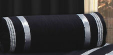 LUXURY GLAMOUR T200 100% EGYPTIAN COTTON BLACK & SILVER FILLED NECK ROLL