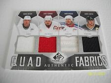 WAYNE GRETZKY SP GAME USED QUAD AUTHENTIC FABRICS 09-10 05/10 YZY, MESS, LEMIEUX