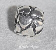 925 Sterling Silber Bead Charm Anhänger mit Gewinde Larenza Herz Herzchen + Etui