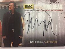 Walking Dead Season 4 PART 1 David Morrisey  - The Governor SILVER AUTOGRAPH DM2