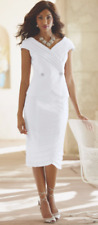 Ashro White Shimmer Pleat Dress Skirt Suit Midnight Velvet 10 14 16 16W PLUS