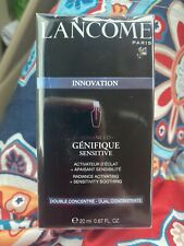 Lancome Innovation Genifique Sensitive Dual Concentrate Full Size New In Box