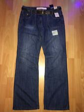 NEXT BOYFRIEND Jeans With Belt - Size 14 Long