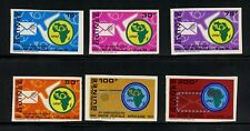 N660   Guinea 1972  UPAF issue  IMPERF  carrier pigeon maps  6v.  MNH