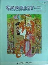 CAMELOT, 1960 SONG BOOK W/ PHOTOS (WARNER BROS., LERNER & LOEWE, RICHARD HARRIS+