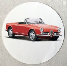 "1960s Alfa Romeo Giulietta Spider 12"" Clock Face Insert"