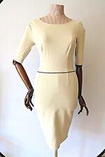 STELLA MCCARTNEY Peplum Back White & Black Monochrome Pencil Dress - UK 10