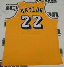 Elgin Baylor Signed Lakers Basketball Jersey PSA/DNA COA Hall of Fame Autograph