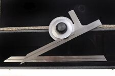 "Somet Protractor includes 12"" & 6"" Scale In Hard Case Free Shipping"