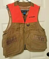 Columbia PHG Hunting Vest Size Medium Vented With Bird Pockets Front & Back