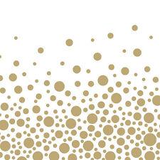 """20 Servietten""""Sparkeling Dots gold""""33x33cm*festlich*weiß*goldene Punkte*Hochzeit"""