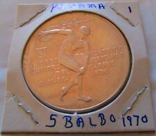 1970 Panama 5 Balboas Silver Proof 1oz Central American & Caribbean Games Central America