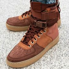 Nike SF Air Force 1 Premium  Sherpa Fleece Dark Russet Shoes UK 8.5, 9, 10
