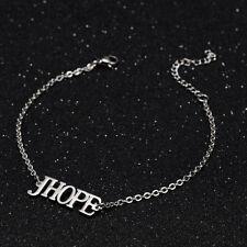 KPOP Bangtan Boys J-HOPE Name Letter Stainless Steel Bracelet Adjustable