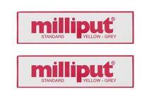 2 x Milliput Standard 2 Part Epoxy Putty Grey Yellow Modelling DIY - 113g / 4oz