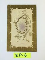 C.1908  A Merry Christmas, Gold Embossed OLD Vintage Postcard ZP-6