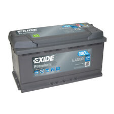 1x Exide Premium 100Ah 900CCA 12v Type 017 Car Battery 4 Year Warranty - EA1000